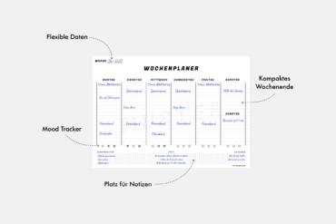 Schoener Wochenplaner Wochenkalender Beispiel Muster Vordruck Vorlage