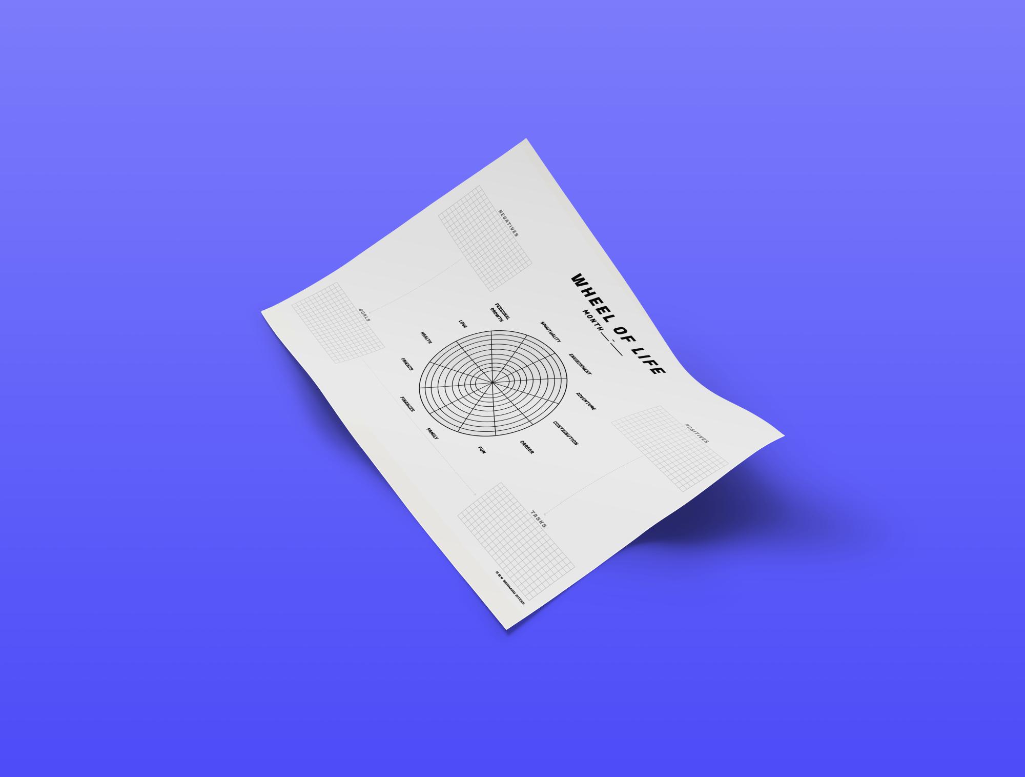 Blank Wheel of Life - Free Printable PDF Template 📅 - Bernard Zitzer For Blank Wheel Of Life Template